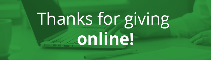 Thanks for giving online!